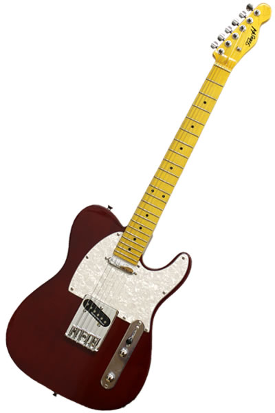 Tele 1 Red / wh : Bílý pickguard