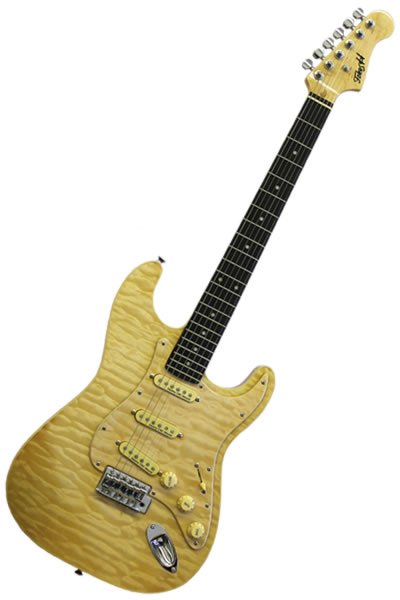 Strat SSS Yellow Quilt :