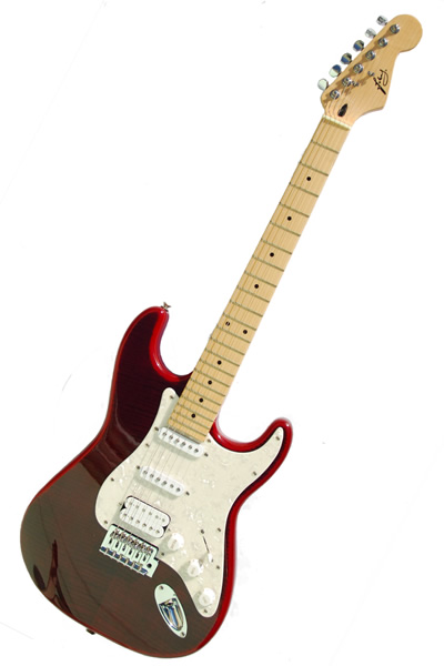 Strat SSH transparent red :
